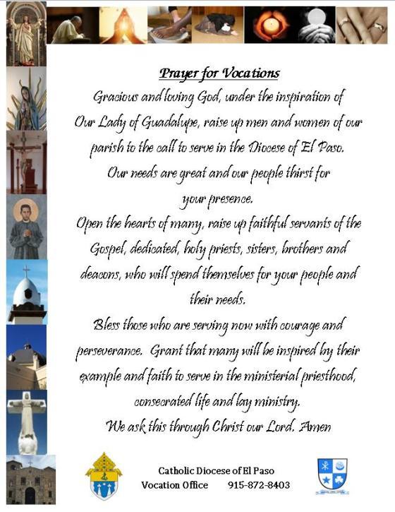 vocational prayer 2016