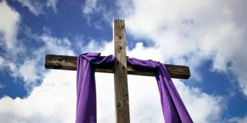 Lenten Wrapped Cool Cross Silhouette